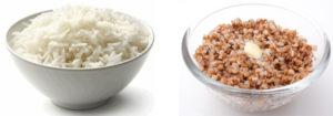 Каши (гречка, рис, овсянка) варенные пополам на воде и молоке