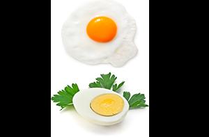 Жаренные и варенные яйца вкрутую